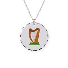 Celtic Harp Instrument Necklace
