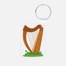 Celtic Harp Instrument Keychains