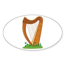 Celtic Harp Instrument Decal