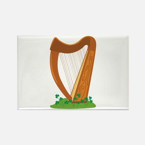 Celtic Harp Instrument Magnets