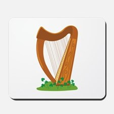 Celtic Harp Instrument Mousepad