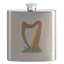 Celtic Harp Instrument Flask