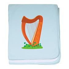 Celtic Harp Instrument baby blanket