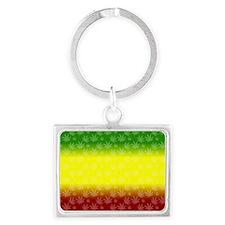 Rastafari Pot Leaf Landscape Keychain