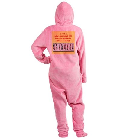 MAHJONG2 Footed Pajamas
