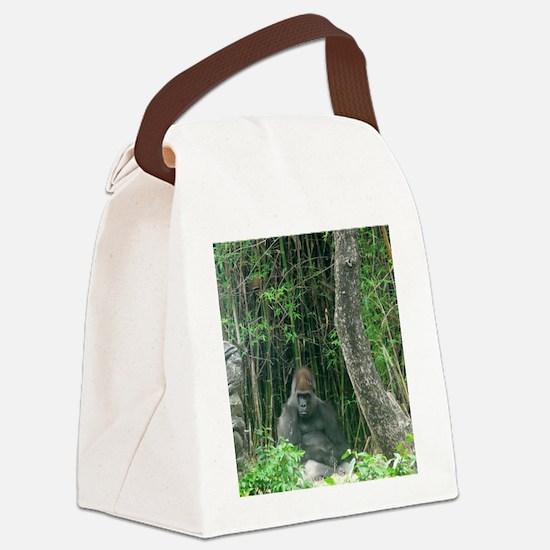 Thinking Gorilla Canvas Lunch Bag
