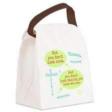 Sick And Stupid Canvas Lunch Bag