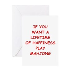 MAHJONG Greeting Cards