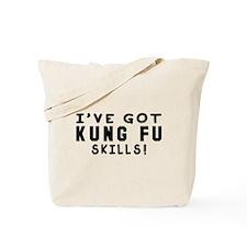 Kung Fu Skills Designs Tote Bag