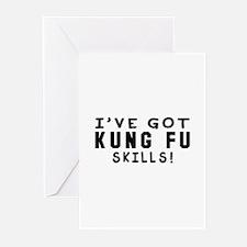 Kung Fu Skills Designs Greeting Cards (Pk of 10)
