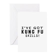 Kung Fu Skills Designs Greeting Cards (Pk of 20)