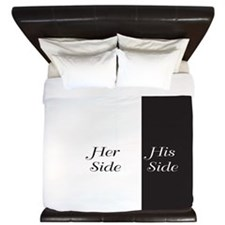 Her Side / His Side King Duvet