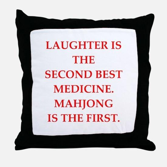 MAHJONG3 Throw Pillow