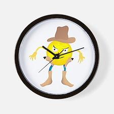 Cowboy Emoticon Wall Clock
