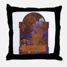Maxfield Parrish Djer Kiss Ad Throw Pillow