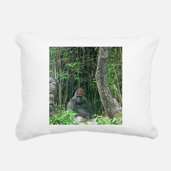Thinking Gorilla Rectangular Canvas Pillow