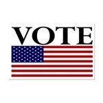 Vote (with Flag) 11x17 Poster Print