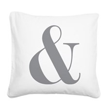 Ampersand Square Canvas Pillow