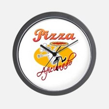 Pizza Aficionado Wall Clock