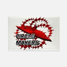 Circle Makers Red Rectangle Magnet