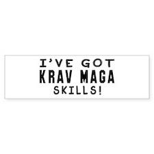 Krav Maga Skills Designs Bumper Sticker