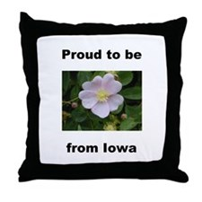 Funny From iowa Throw Pillow