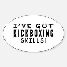 Kickboxing Skills Designs Sticker (Oval)