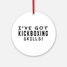 Kickboxing Skills Designs Ornament (Round)