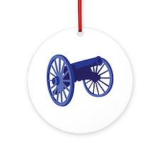 Civil War Cannon Ornament (Round)