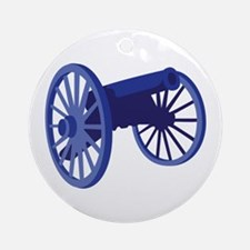 Civil War Cannon Ornament (Round)