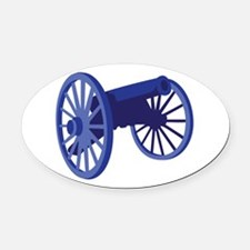 Civil War Cannon Oval Car Magnet