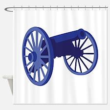 Civil War Cannon Shower Curtain
