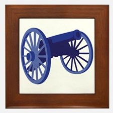 Civil War Cannon Framed Tile