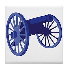 Civil War Cannon Tile Coaster
