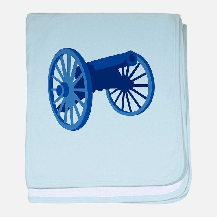 Civil War Cannon baby blanket