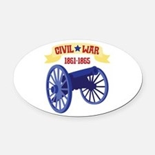 CIVIL*WAR 1861-1865 Oval Car Magnet