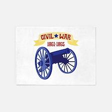 CIVIL*WAR 1861-1865 5'x7'Area Rug