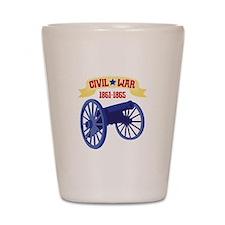 CIVIL*WAR 1861-1865 Shot Glass