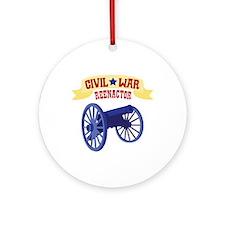 CIVIL * WAR REENACTOR Ornament (Round)
