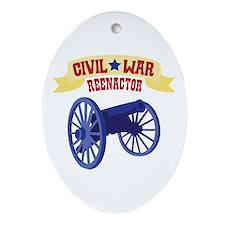CIVIL * WAR REENACTOR Ornament (Oval)