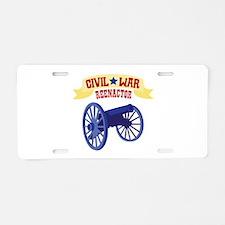 CIVIL * WAR REENACTOR Aluminum License Plate