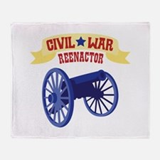 CIVIL * WAR REENACTOR Throw Blanket