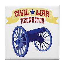 CIVIL * WAR REENACTOR Tile Coaster