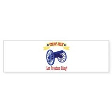 *4th Of July* Let Freedom Ring! Bumper Bumper Sticker