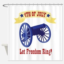 *4th Of July* Let Freedom Ring! Shower Curtain