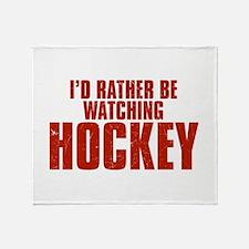 I'd Rather Be Watching Hockey Stadium Blanket