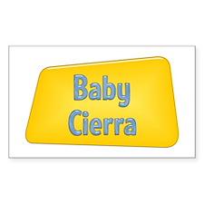 Baby Cierra Rectangle Decal