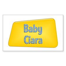 Baby Ciara Rectangle Decal