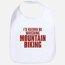 I'd Rather Be Watching Mountain Biking Bib