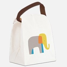 Artsy Elephant Canvas Lunch Bag